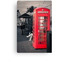 Phonebox at Eastbourne Canvas Print