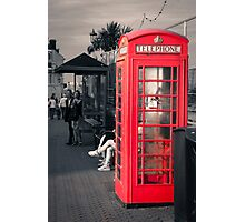 Phonebox at Eastbourne Photographic Print
