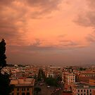 Sunset over Vatican by tonni