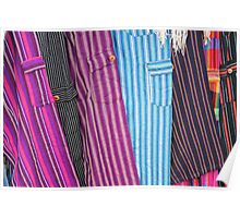 Colorful Pants at the Cotacachi Outdoor Market Poster