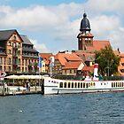 The harbour at Waren Müritz, Mecklenburg, Germany. by David A. L. Davies