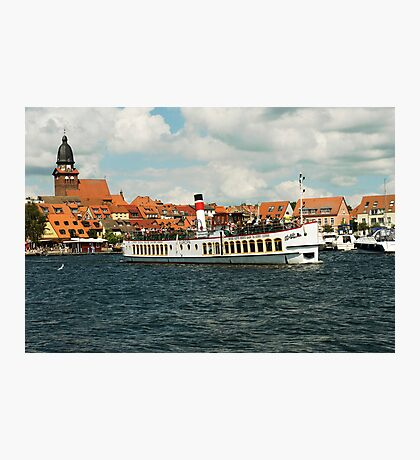 "Excursion boat ""Europa""at Waren Müritz, Mecklenburg, Germany. Photographic Print"