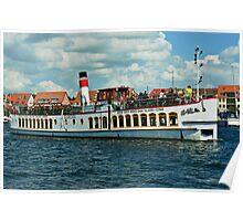"Excursion boat ""Europa""at Waren Müritz, Mecklenburg, Germany. Poster"