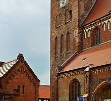 St.  George's Church In the old town of Waren, Mecklenburg, Germany. by David A. L. Davies