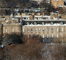 Holyrood Palace in White by justbmac