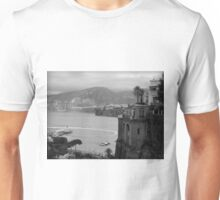 Mist on the Amalfi Coast Italy ~ Black/White Unisex T-Shirt