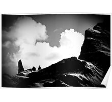 Old Man of Storr Silhouette Poster
