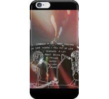 Tigers Jaw lyrics #4 iPhone Case/Skin