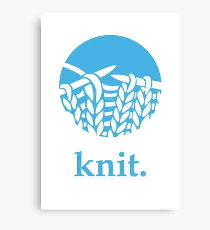 Knit. Canvas Print