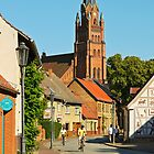 Small town of Roebel & St. Mary's church, Mecklenburg, Germany. by David A. L. Davies