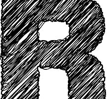 Sketchy Letter Series - Letter R by JHMimaging