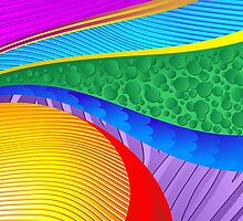 Rainbow Colors Abstract Fantasy by BluedarkArt