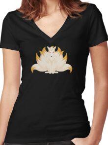 Ninetales Women's Fitted V-Neck T-Shirt