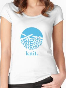 Knit. Women's Fitted Scoop T-Shirt