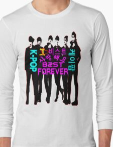 ♥♫I Love B2ST Forever Splendiferous K-Pop Clothes & Stickers♪♥ Long Sleeve T-Shirt
