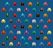 Cool Colorful Megaman Helmet Pattern by thejoyker1986