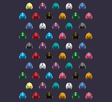 Cool Colorful Megaman Helmet Pattern T-Shirt