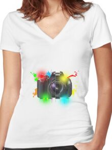 Canon T Shirt Women's Fitted V-Neck T-Shirt