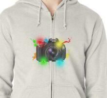 Canon T Shirt Zipped Hoodie