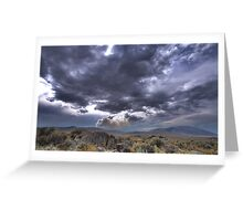 High Desert Lighting Fires Greeting Card