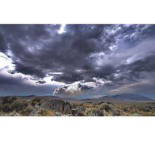 High Desert Lighting Fires Photographic Print