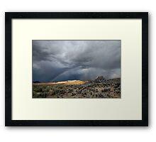 High Desert Monsoons Framed Print