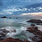 After sunset, La Corbière by Rachael Talibart