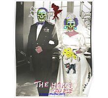 Happy Couple Photo Collage Poster