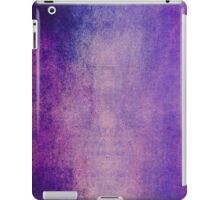 Abstract iPad Case Crazy Cool Lovely New Grunge Texture Purple Tones iPad Case/Skin
