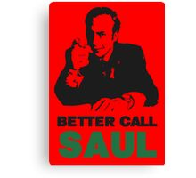 Better Call Saul (Red) Canvas Print