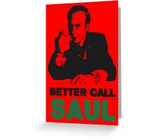 Better Call Saul (Red) Greeting Card