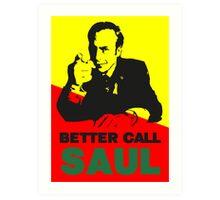Better Call Saul (Red/Yellow) Art Print