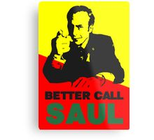 Better Call Saul (Red/Yellow) Metal Print