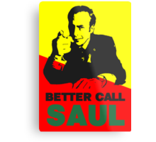 Better Call Saul (Red/Yellow) Metal Print