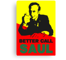 Better Call Saul (Red/Yellow) Canvas Print
