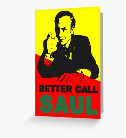 Better Call Saul (Red/Yellow) Greeting Card
