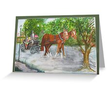 Carriage Ride Greeting Card