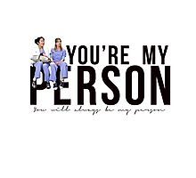 Grey's Anatomy - My Person (horizontal) Photographic Print