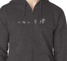 Evolution or Natural Selection ? ZIP Zipped Hoodie