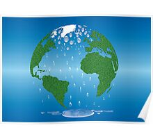 Global Warming Climate Change Earth Prints  Poster
