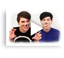Dan & Phil | YouTube Play Button Canvas Print