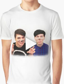 Dan & Phil | YouTube Play Button Graphic T-Shirt