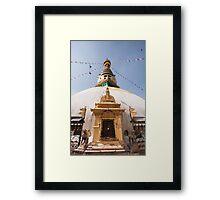 Swayambunath Stupa Framed Print