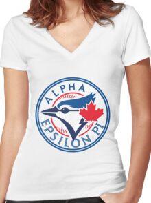 AEPi Toronto Blue Jays Women's Fitted V-Neck T-Shirt