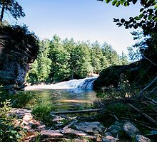 Rock Formation Below Swallow Falls by Gene Walls
