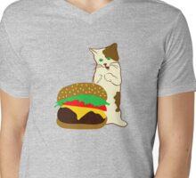 Happy Kitty Mens V-Neck T-Shirt