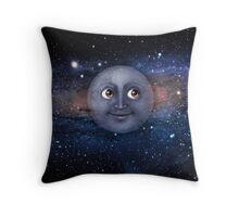 The moon in space Throw Pillow