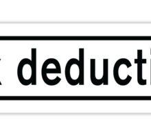 Tax Deduction Sticker