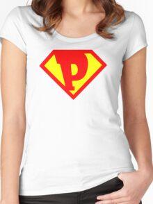 Super Monogram P Women's Fitted Scoop T-Shirt