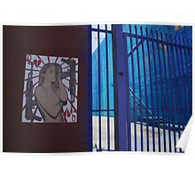 Wheat Pasted Woman and Colorful Gate Poster
